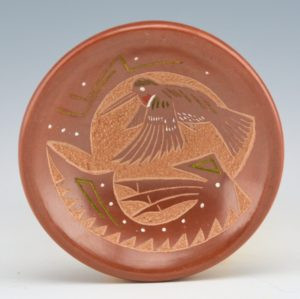Haungooah, Art Cody – Miniature Plate with Hummignbird (1983-4)