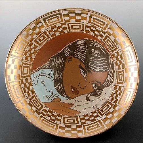 Diego Romero Girl Crying bowl1a