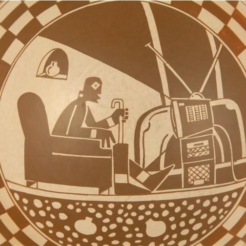 Diego Romero Man watching tv1b