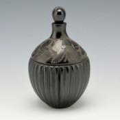 Medicine Flower, Grace – Lidded Melon Jar with Hummingbirds (1989)