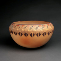Koopee, Jacob – Very Large Open Bowl with Migration Pattern & Cradledolls