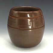 Roller, Jordan – Brown Jar with Kiva Step Designs
