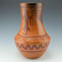Williams, Lorraine – Long Neck Jar with Yei Figures