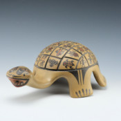 Gutierrez, Margaret & Luther – Large Polychrome Turtle Figure