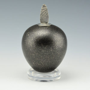 Duwyenie, Preston – Black Micaceous Seedpot with Silver Lid