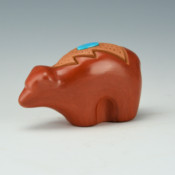 Borts-Medlock, Autumn  – Clay Bear with Turquoise