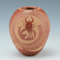 Fragua, Glendora – Seedpot with Mimbres Scorpion (1983)