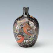 Moquino, Jennifer – Jar with Orioles & Waxwing Birds