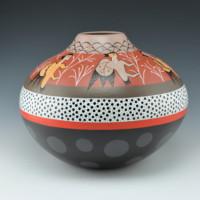 """Namingha, Les – """"Kiva Wall Painting"""" Jar"""