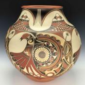 Gutierrez, Lois  – Storage Jar with Swirling Birds