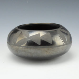 Martinez, Maria – Bowl with Prayer Feather Pattern (1920's)