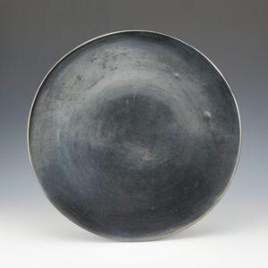 Martinez, Maria – Plainware Gunmetal Fired Plate (1920's)