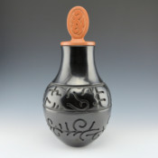 Youngblood, Nathan – Jar with Rain, Springs and Sun Carved Lid