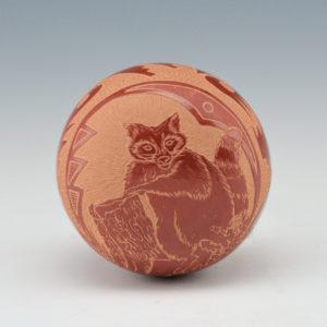 Lonewolf, Rosemary –  Seedpot with Raccoon (1978)