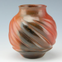 Manymules, Samuel  – Swirl Melon Jar with 10 Ribs
