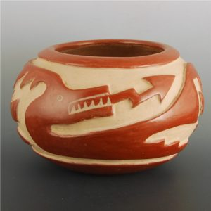 Carved bowl by SaraFina Tafoya