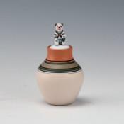 Wildflower, Theresa – Mini Lidded Jar with Wolf Katsina