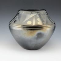 Roybal, Tonita – Jar with Rain Design & Goldtone Firing