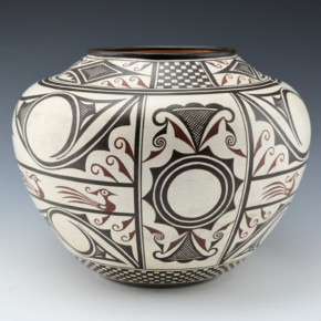 Namingha, Les – Zuni Jar with Birds & Rainbirds