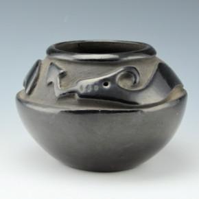 Tafoya, Pasqualita – Carved Bowl with Avanyu (1940's)