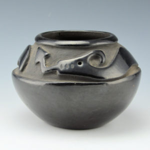 Tafoya, Pasqualita – Carved Bowl with Avanyu (1940's)