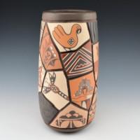 "Candelaria, Daryl – Pottery ""Shard"" Design Tall Jar"