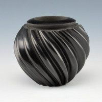Gonzales, Gabriel – Carved Melon Ribbed Bowl
