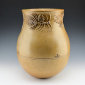 McHorse, Christine -Large Jar with Pine Cone Relief