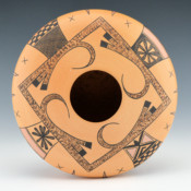 Tahbo, Mark  – Bowl with Eagle Tail Design