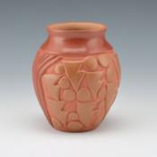 Diaz, Tina – Red & Tan Jar with Rain & Prayer Feather Pattern
