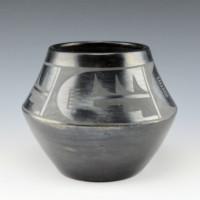 Roybal, Tonita – Jar with Lightning & Bird Feather Design (1920's)