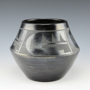Roybal, Tonita – Jar with Lightning & Bird Feather Design (1920's)