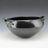 """Unsigned – Santa Clara Open Bowl with """"Finger"""" Handles (1920's)"""
