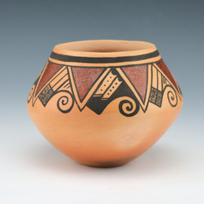 "Nampeyo, Candice ""Candy"" – Bowl with Mountain and Cloud Designs"