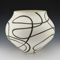 Lewis, Eric – Large Jar with Spiral Design