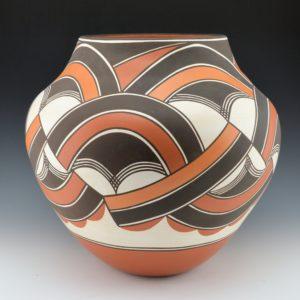 Paquin, Gladys – Large Jar with Triple Rainbow