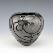 Medicine Flower, Grace – Black Carved Bowl with Hummingbirds