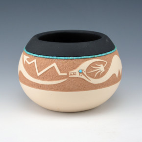 Gonzales, John – Bowl with Avanyu (2003)