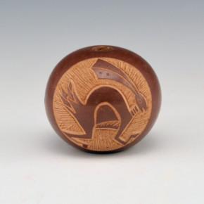 Haungooah, Art Cody –  Brown Seedpot with Rabbit (1978)