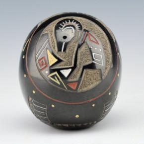 Haungooah, Art Cody – Seedpot with Big Horn Sheep