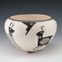 Lewis, Emma – Bowl with Antelope, Deer & Elk