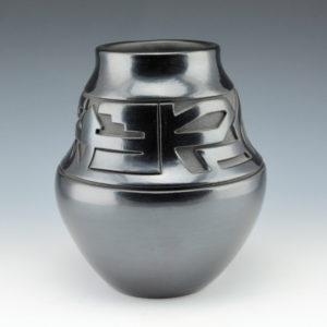 Roller, Jordan – Double Shoulder Jar with Eagle fEather Designs