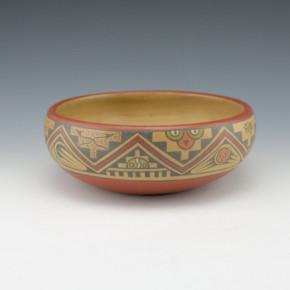 Gutierrez, Lela & Luther – Polychrome Bowl with Mountain Design