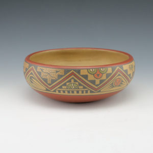 Gutierrez, Lela & Luther – Polychrome Bowl with Mountain Design (1956-66)