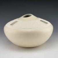 Duwyenie, Preston – Shifting Sand Design Jar with 3 Silver Insets