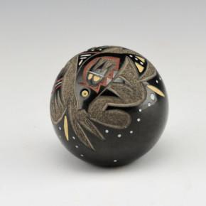 Haungooah, Art Cody – Seedpot with Polychrome Fish