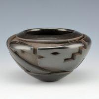 Garcia, Effie – Bowl with Avanyu & Lightning Designs