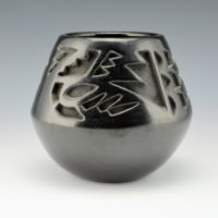 Komalestewa, Alton & Jeannie Shupla – Carved Bowl with Cloud Designs
