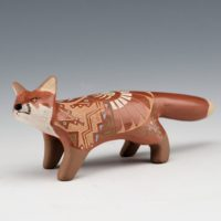 Moquino, Jennifer – Red Fox Clay Figure