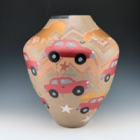 "Folwell, Susan – ""Wind Wagon"" Jar, Free Spirit Exhibit (2005)"